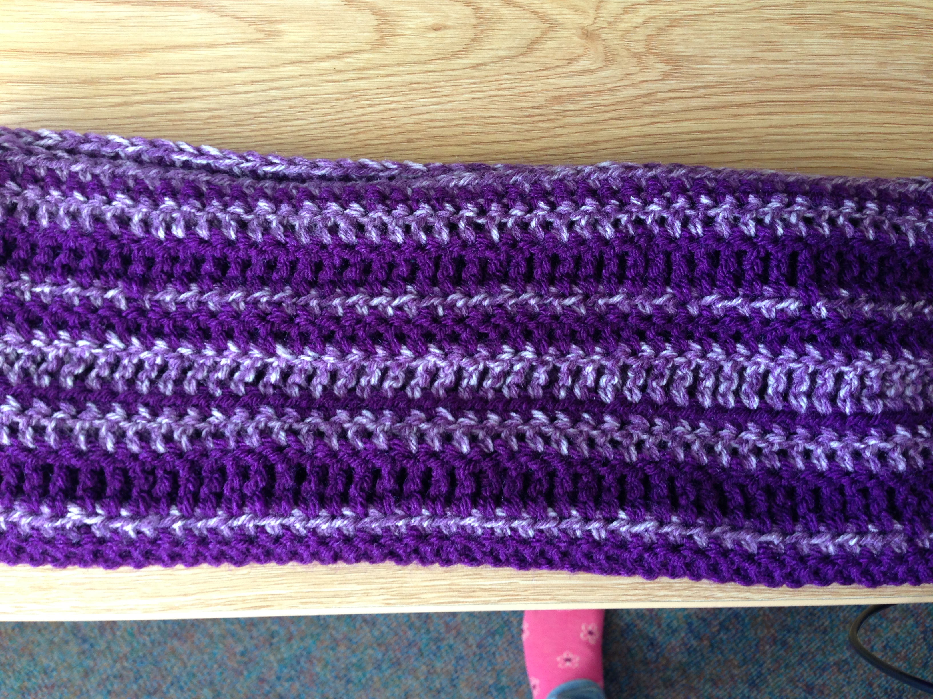 Striped Infinity Scarf Crochet Pattern   yarn isomerase